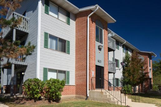 exterior 792 building, balconies, stairway