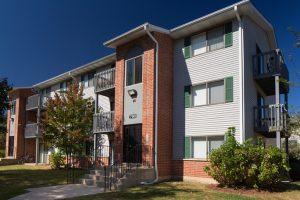 Exterior 790 building, balconies, stairs, sidewalk